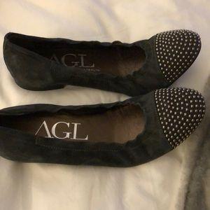 Attilio Giusti Leombruni Shoes - Never Worn AGL Studded Flats